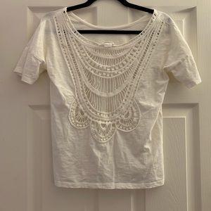 Club Monaco lace t-shirt